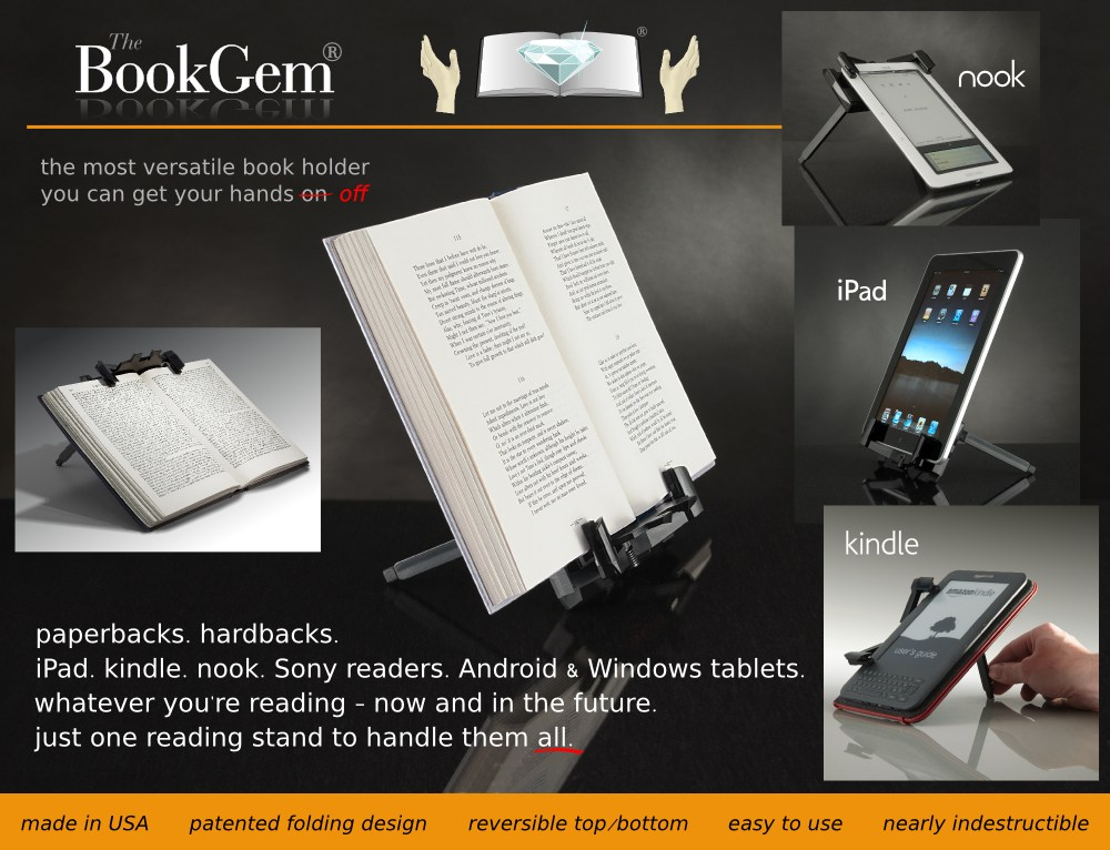 The New BookGem Book Holder